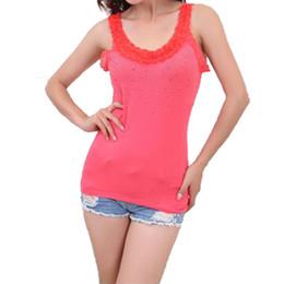 09d61292f03 New Fashion Women s T-Shirt Tank Hotselling Tops Sexy Vest Polka Dot  Rhinestone Sleeveless KH657877