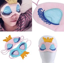 Máscara de fantasía online-Princess Crown Fantasy Eyes Cover Eyeshade Eyepatch Travel Sleeping Blindfold Shade Eye Máscara Parches portátiles dormir Máscaras