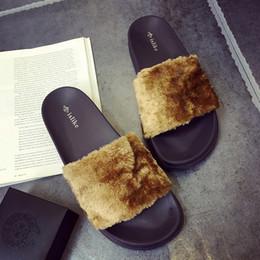 Wholesale Soft Plush Animals - Big Size Fenty Rihanna Shoes for Women Ladies and Men Couple Slippers New Style Fashion 7.5 11.5 42 44 45 46