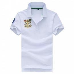 Camiseta branca laranja on-line-Olo camisa dos homens tshirt EUA Verão de manga Curta T shirt de algodão sexy homens camisetas M L XL 2XL Preto Branco Laranja Roxo Verde azul