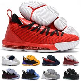2019 zapatillas más calientes Venta caliente LB 16 hombres zapatos de baloncesto nuevo diseño LB 16s rojo blanco deporte juego zapatillas XVI zapatos masculinos grises talla 40-46 rebajas zapatillas más calientes