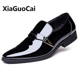Wholesale flattering plus size dresses - New Spring Autumn Man Dress Shoes Leather Breathable Pointed Toe Slip on Business Wedding Plus Size 38-48 Oxford Formal Shoes
