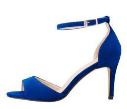 2018 Hot Mulheres Sandálias micro camurça Plus Size 35-42 Moda Tira No Tornozelo Sapatos Mulheres Alta saltos finos Salto Médio Mulheres Sapatos cheap medium size sandals de Fornecedores de sandálias de tamanho médio