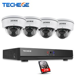 Wholesale poe ip security camera - 4CH NVR 48V POE 1080P CCTV System Onvif P2P 2.0MP HD Network Motion Detection Vandalproof Security POE IP Camera XMeye
