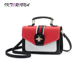 899d6815d4e3 IKTOROVNA Brand Women Solid Totes Bee Small Handbag Hot Sale Lady Party  Purse Crossbody Messenger Pu Leather Shoulder Bags