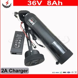 Wholesale 36v Battery For Bicycle - Scooter Lithium 36V 8Ah Battery Pack For 800W eBike Motor With 42V 2A Charger Electric Bicycle Battery 36V Free Shipping
