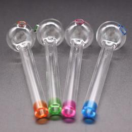 2019 fabricantes de moedas 4 Cor Artesanato Pirex Tubo de Queimador De Óleo de Vidro Mini Fumaça Tubos de Mão de Espessura De Vidro Tubo De Óleo Colorido Tubo Frete Grátis