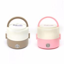 Коробка для завтрака согревает пищу онлайн-Портативный 1.2 л мини электрический подогреватель пищи портативный с подогревом коробка обеда коробка еды теплее Бенто коробка компактный 2 слоя из нержавеющей стали