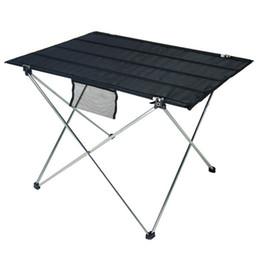 Mesa Dobrável portátil para Acampamento Ao Ar Livre Activties Leve Liga de Alumínio Dobrável Mesa de Churrasco de Piquenique Mesa Dobrável de