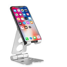 Складная подставка для телефона из алюминиевого сплава для iPhone XS Max XR 8 Samsung Galaxy Note 8 S7 от Поставщики подставки из алюминия