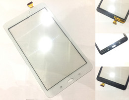 Wholesale Mix Tabs - for Samsung Galaxy Tab E 8.0 T377 T375 Digitizer with Preattached Adhesive No Speaker Hole Black White