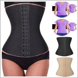 Wholesale Tights Bones - Tight High Waist Trainer Body Cincher Underbust Shaper Shapewear Push Up Sweat Sprial Steel Boned Tummy Control Size XS-XL