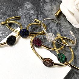 porcellana bracciali anelli Sconti Nuovo stile Polsino con diamanti colorati fantasia Bracciale con accessori a forma di fungo in acciaio titanio Bracciali in oro argento per gioielli moda donna