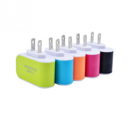 Wholesale Candy Wall - Candy 3 USB wall charger travel Adapter us plug Power Adaptor with triple USB Ports For iphone 7 samsung S8 Mobile Phone