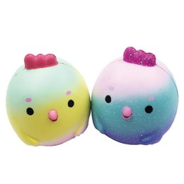 Wholesale cartoon baby chickens - Kawaii Yellow Chicken Baby Squishy Slow Rising Squeeze Toy Cartoon Doll Squishies Decompression Toys Colors Random Not Choose