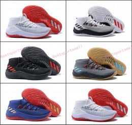 Wholesale Signature White - Cheap Damian Lillard 4 Basketball Shoes Dame 4s Boost Rip City White Black Red Un-Dyed Signature Sports training Sneakers Size 40-46
