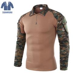 engranaje de camuflaje Rebajas Gear Camouflage Army Tactical T-Shirts Hombres Soldiers Combat Tactical T-shirt Force Multicam Camo T-shirt manga larga T-shirt