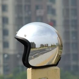 Capacetes de motocicleta personalizados on-line-Frete grátis 2015 novo personalizado moda cromo cascos capacete da motocicleta capacete 3/4 rosto aberto do vintage scooter jet capacetes