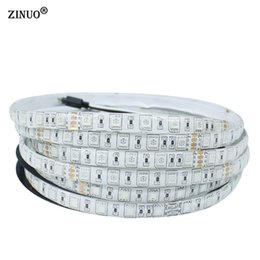 Wholesale 24v Led Red Light - ZINUO 5M 24V IP65 Waterproof Flexible LED Strip 5050 300led Lighting Led Tape Outdoor Decoration Led Ribbon WarmWhite White RGB