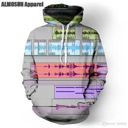 Wholesale-ALMOSUN Music Track Editor DJ 3D All Over Print Pullover Hoodies Hip  Hop Hipster Jumper Fashion Sportwear Men Women eac773d7506c