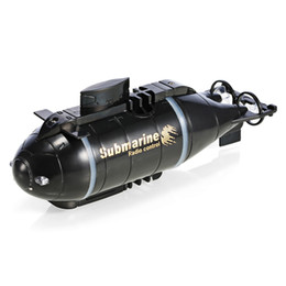 Wholesale Remote Control Rc Submarines - RC Submarine Wireless 40MHz Remote Control Mini Submarine Speed Racing Boat Outdoor Adventure Pigboat Model Toys