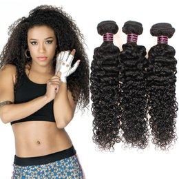 Wholesale Virgin Unprocessed Curly Hair - Good Quality Unprocessed Brazilian Deep Curly Virgin Human Hair 3Bundles Weave Wholesale Cheap Virgin Brazilian Deep Curly Hair Extensions