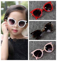 48d41572d7d Cute cat eye kids sunglasses boy girl fashion UV protection sunglasses  simple eyeglasses frame child eyewear summer beach accessories affordable  round ...
