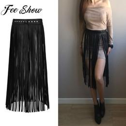 15a2c85bd7d Ladies Fashion Faux Leather Hippie Boho Waistband Long Fringe Tassel Skirt  Belt High Waist Women Long Belt Nightclub