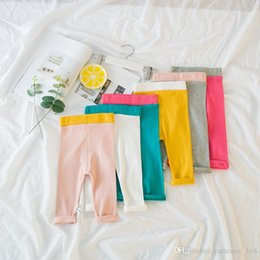 Wholesale Red Leggings 3t - 6 color 2018 INS new arrival baby kids candy color high quality Thread cotton underpants spring autumn cute pants free shipping