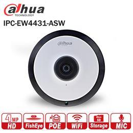 2019 caméra ip panoramique Dahua IPC-EW4431-ASW 4MP Panorama POE WIFI Fisheye IP intégré dans la fente pour carte micro SD Interface audio Interface d'alarme DH-IPC-EW4431-ASW caméra ip panoramique pas cher