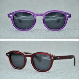 1d50e9d915bfe Vazrobe Unisex Acetato Óculos De Sol Das Mulheres Dos Homens Polarizados  Pequeno Johnny Depp Óculos de Sol Do Vintage Tartaruga Preto 80 s Retro  Óculos De ...