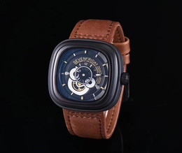 Wholesale cow pin - mens watches luxury AAA watch brand new quartz watches square dial authentic cow belt waterproof watch