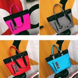 Wholesale Free Designer Clothes - Ladies Handbags Fashion Designer Pink Printed Shoulder Bags Women Girls Tote Waterproof Travel Shopping Hand Bags 4Colors DHL free ship