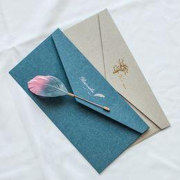 Wholesale Classic Invitations - Wholesale- 10 Pcs lot Retro Paper Envelopes Retro Classic Western Bronzing Business Decorated Wedding Invitation Envelope 11*22 cm