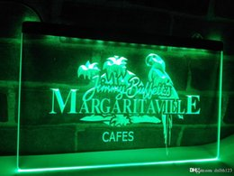 Signos margaritaville online-LE110g- Jimmy Buffett Margaritaville LED Luz de neón
