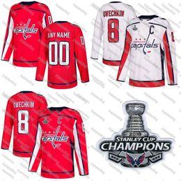 Washington Capitals 2018 Stanley Cup Champions Matt Niskanen John Carlson  Lars Eller Tom Wilson Jay Beagle Alex Ovechkin Hockey Jerseys 23773604897a