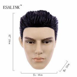 Wholesale Baby Doll Heads - Wholesale- Fashionable PVC Female Head Mannequin Plastic Handsome man mannequin Head Model
