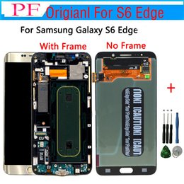 samsung lcd screen repair Promo Codes - Original LCD Screen For Samsung S6 Edge G925V LCD Touch Screen Display Digitizer Assembly For G920P G925R4 G925T G925K Repair LCD +Tool