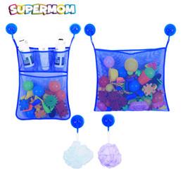 2 Taschen + 6 Haken Kind Bad Storage Net Tasche Saugnapf Mesh Tasche Kind Badewanne Bad Küche Zubehör Organizer Net Für Spielzeug von Fabrikanten