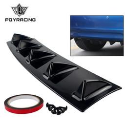 PQY - ABS Plastica Universale Nero Paraurti posteriore Lip Chassis Diffusore Spoiler 5 Fin Shark Fin Style PQY-SFB04-5 da