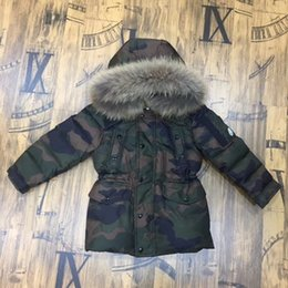 Wholesale Winter Jacket For Boys - Camouflage Children's Down Jacket Long Thick Boy Winter Coat Duck Down Kids Winter Jackets for Boy Outerwear Fur Collar