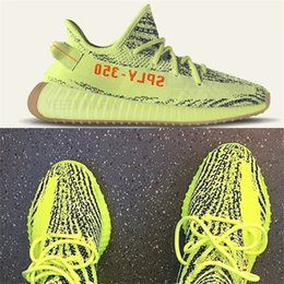 Wholesale free gyms - 2018 mens boost 350 v2 kanye west shoes womens running shoes for men SPLY-350 Free Shipping With Receipt Keychain