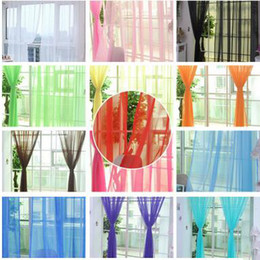 Wholesale Green Window Curtains - HOT Romantic Aesthetic Solid Sheer Curtains Wedding Decorations High Quality Balcony Sheer Curtains Home Decorations Curtains Free Shipping