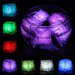 Wholesale Icing Sensor - Ice Cube LED Light Flashing Submersible Multi-Color Liquid Sensor Glow Lighting for Drinking Wine Wedding Party Bar Decoration