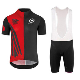 Wholesale Black Cycling Kits - 2018 Cycling Jersey Maillot Ciclismo Short Sleeve and Cycling bib Shorts Cycling Kits Strap cycle jerseys Ciclismo bicicletas 122101