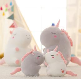 Wholesale unicorns toys - Fluffy plush Unicorn toys Character Unicorn plush Soft Stuffed unicorn Plush Dolls for children gift Kids Toy GGA236 30pcs