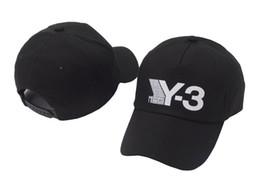 Deutschland 2018 New Y-3 Papa Hut Big Bold Gestickte Logo Baseball Caps Einstellbare Strapback Hüte Y3 Knochen Snapback Sport Casquette Visier Gorras Cap Versorgung