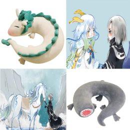 Wholesale Anime Miyazaki Hayao - Cartoon Dragon Anime Miyazaki Hayao Spirited Away Haku Cute U Shape Doll Plush Toy Pillow doll gift