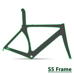 Wholesale Carbon Frameset 58cm - 2018 TOP NEW T1000 UD S5 carbon road frame bike cycling bicycle racing frameset + handlebar can be DPD duty free shipping
