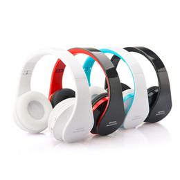 Bluetooth portatile dvd online-Cuffie senza fili pieghevoli professionali NX-8252 Bluetooth Cuffie stereo con effetto stereo super-basso per DVD MP3